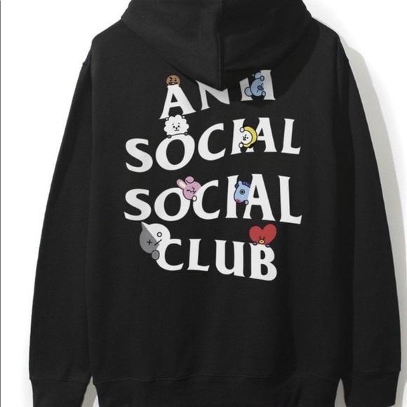 280f9115b0517 ASSC X BT21   BTS Peekaboo Black Hoodie. NWT. Anti Social Social Club